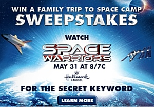 Space Warriors Sweepstakes Feature Image