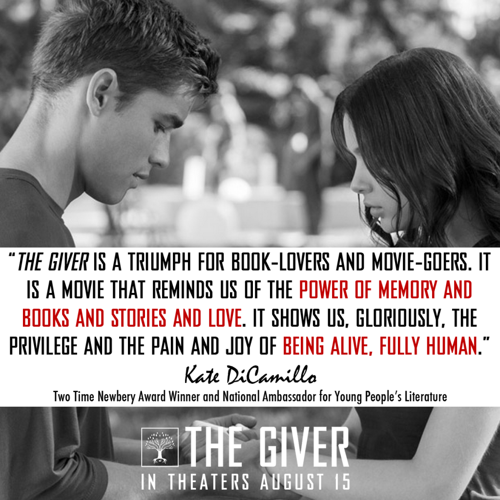 kate dicamillo says the giver movie is a �triumph for book