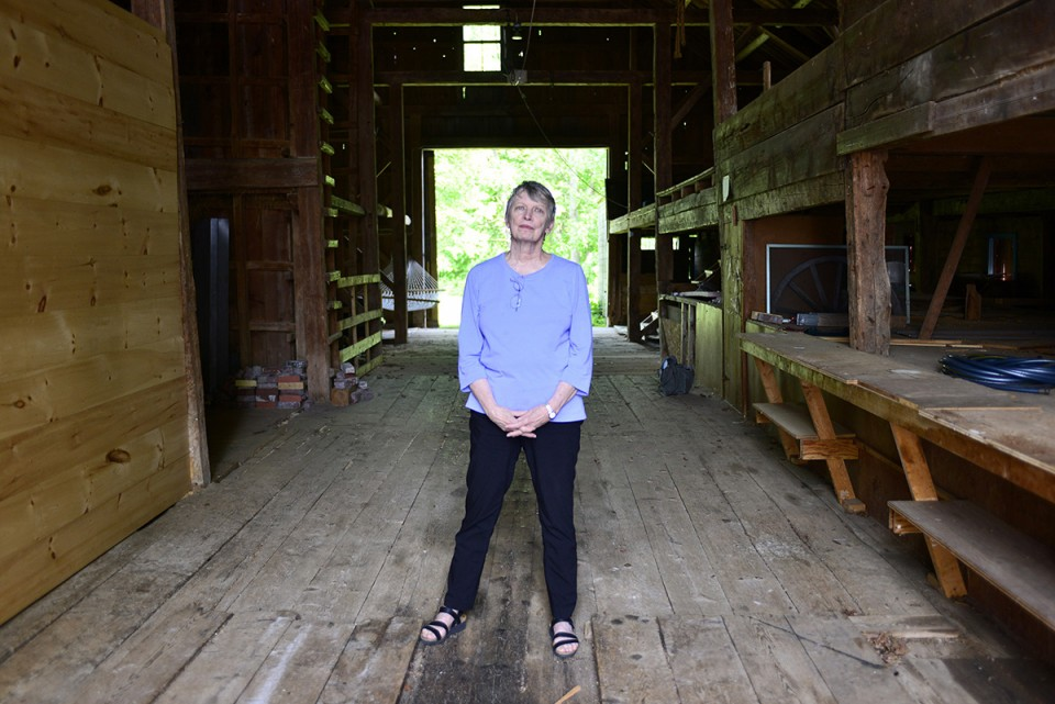 BRIDGTON, ME - JUNE 18: Lois Lowry at her summer home, where many of her books were written, on Wednesday, June 18, 2014. Lowry's book The Giver is being made into a movie to be released in August. (Photo by Logan Werlinger/Staff Photographer)