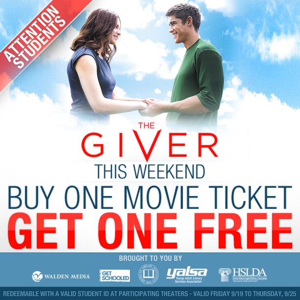 Students! Bring a friend to see The Giver FOR FREE! post thumbnail