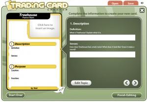 trading card image