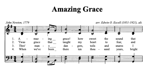 Amazing Grace Music Image