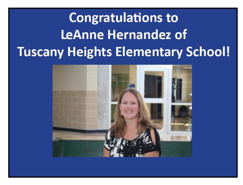 "LeAnne Hernandez: Week One ""Teachers Are Givers"" Winner! post thumbnail"