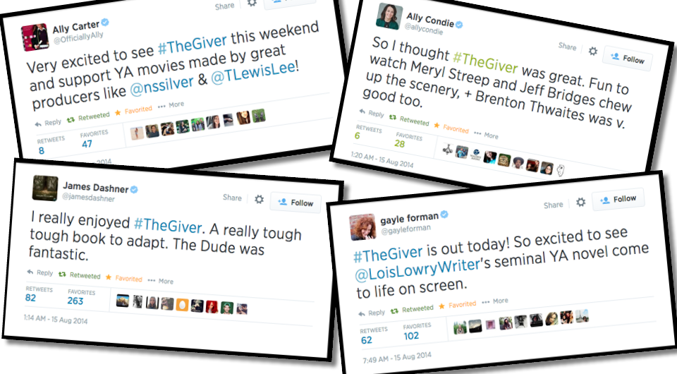 Leading YA Authors and Bloggers Love THE GIVER post thumbnail