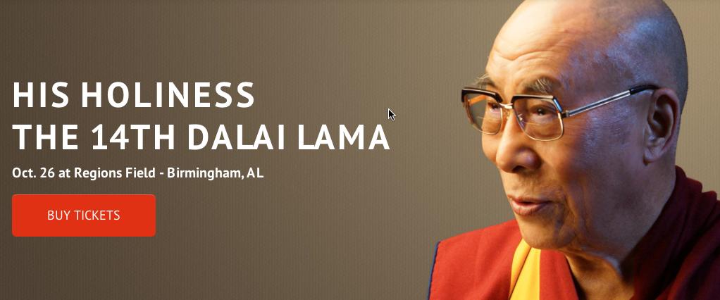 OCT 24-27: Dalai Lama visits Birmingham to Celebrate Human Rights post thumbnail