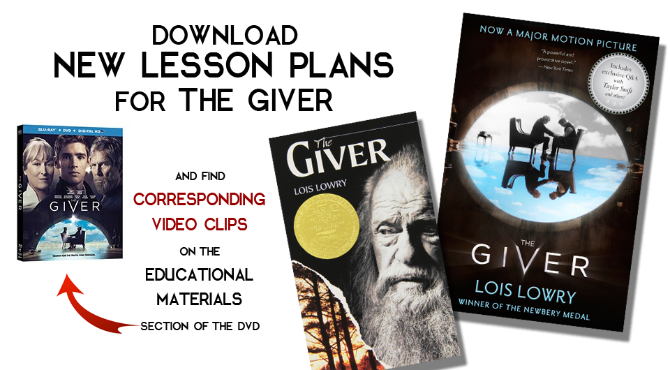 "TEACHERS:  Here are more EDUCATIONAL MATERIALS to go with Your DVD of ""THE GIVER""! post thumbnail"
