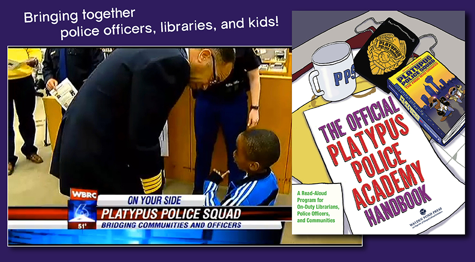 "Birmingham Police Officers Read Aloud to Kids from ""PLATYPUS POLICE SQUAD"" to Promote Literacy post thumbnail"
