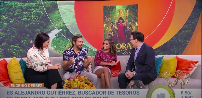 Eugenio Derbez and Isabela Moner appear on Despierta America post thumbnail